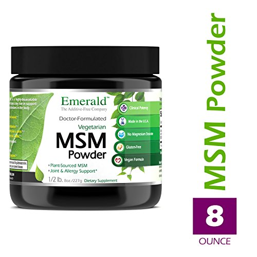 MSM Powder 4,000 mg - Joint Support for Aches & Pains, Anti-Inflammatory, Stress Relief, Digestive System, Promotes Healthy Hair, Skin, and Nails - Emerald Laboratories (Ultra Botanicals) - 8 oz