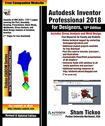 Autodesk Inventor Professional 2018 for Designers, 18th