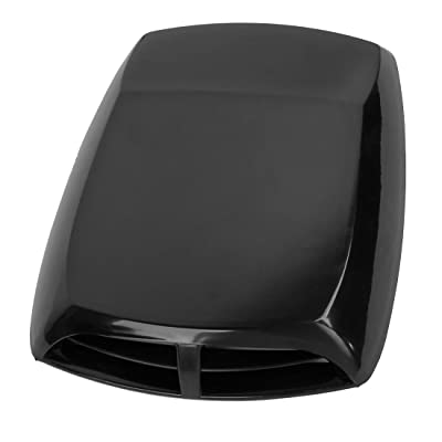 ZYHW Car Air Flow Intake Scoop Vent Cover Hood Check Pattern Black: Automotive