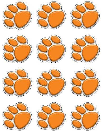 Teacher Created Resources Mini Accents, Orange Paw Prints (5122)