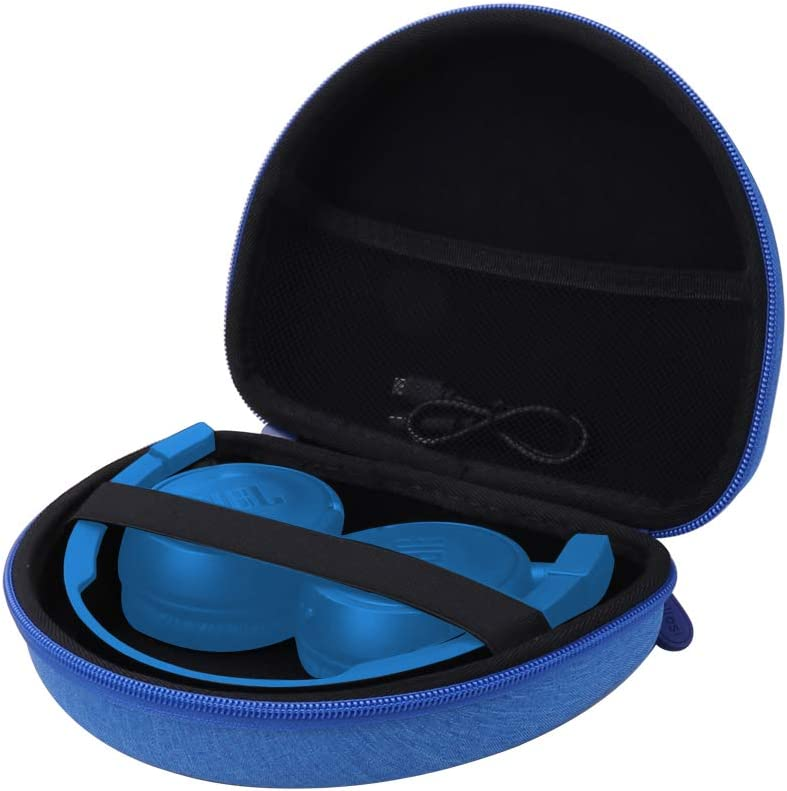 Aenllosi Hard Carrying Case Compatible with JBL TUNE500BT/T450/T450BT On-Ear Lightweight Foldable Headphones (Blue)