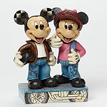 Department 56 Disney Traditions by Jim Shore Biker Mickey and Minnie Figurine, 6.125