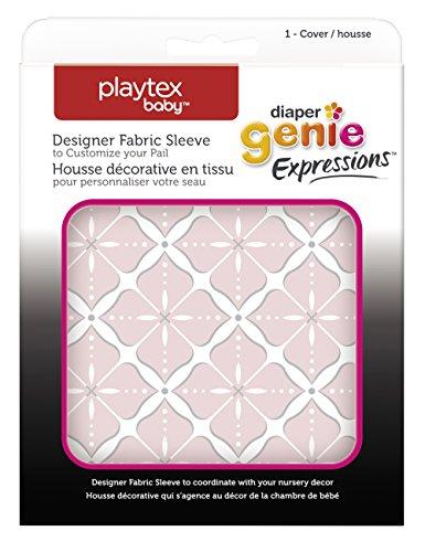 Diaper Genie Playtex Expressions Fabric Sleeve, Pink Starburst (Pink Pail)