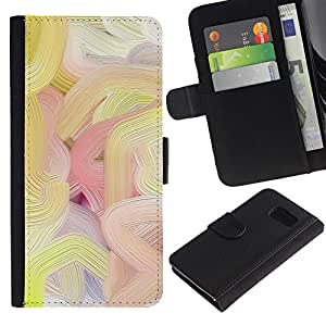 iBinBang / Flip Funda de Cuero Case Cover - Líneas de colores de pintura al óleo del arte de la primavera - Samsung Galaxy S6 SM-G920