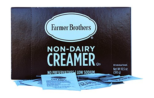 Creamer Salt (Non Dairy Coffee Creamer Powder Packets By Farmer Brothers. (100) Individual, No Preservatives, Low Sodium Packets.)