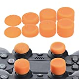 YoRHa Professional Thumb Grips Thumbstick Joystick Cap Cover (orange) Extra High 8 Units Pack for PS4, Switch PRO, PS3, Xbox 360, Wii U tablet, PS2 controller