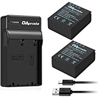 OAproda 2 Pack Replacement BLH-1 Li-ion Battery and Micro USB Battery Charger for Olympus OM-D E-M1 Mark II Camera (Light Weight, Fast Charge)