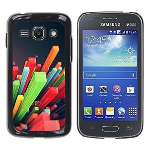 Be Good Phone Accessory // Dura Cáscara cubierta Protectora Caso Carcasa Funda de Protección para Samsung Galaxy Ace 3 GT-S7270 GT-S7275 GT-S7272 // Colorful Pattern