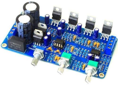 FidgetFidget TDA2030A 2.1 Stereo Amp 2 Channel Subwoofer Audio Amplifier Board DIY kits 12V