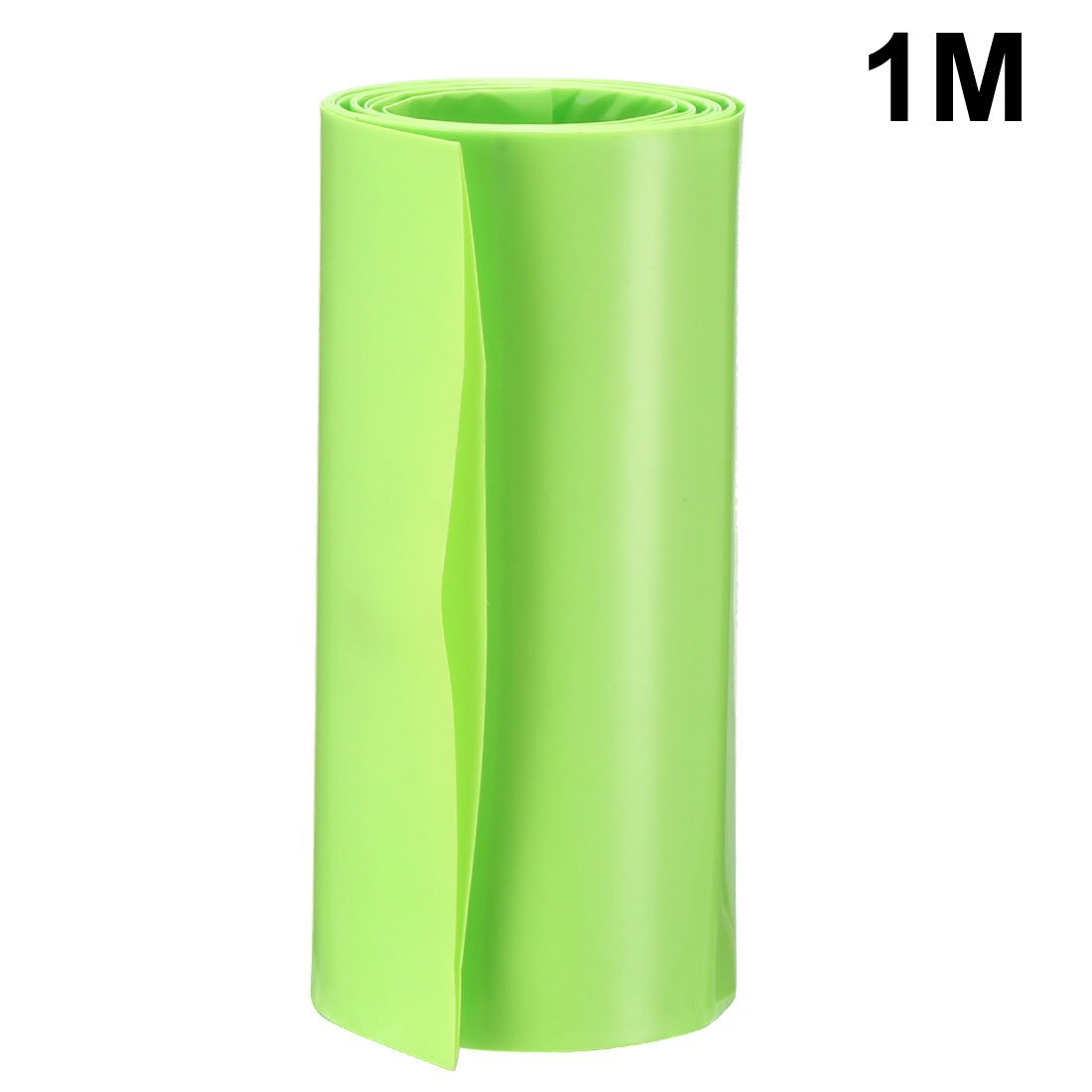 sourcing map 2Meters 85mm Width PVC Heat Shrink Wrap Blue for 18650 Battery Pack
