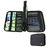 Q Dream BUBM Double Layer Electronic Accessories Organizer Bag Travel Gadget Carry Bag For iPad Mini, Phone, Charger and Cable