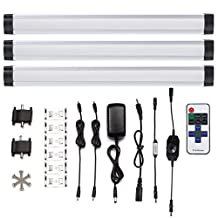 S&G 4000K(Neutral White) 900lm Dimmable LED Under Cabinet Light Ultra Thin Under Counter Lighting 3pcs Panel Lights Included Remote Control Buget-friendly