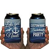 Custom Bachelorette Can Cooler- Lets Get Nauti - Nautical Bachelorette Theme Can Coolers (48)