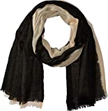 Love Quotes Women's Travel Weight Cashmere Dip-Dye Scarf Shy/Black One Size