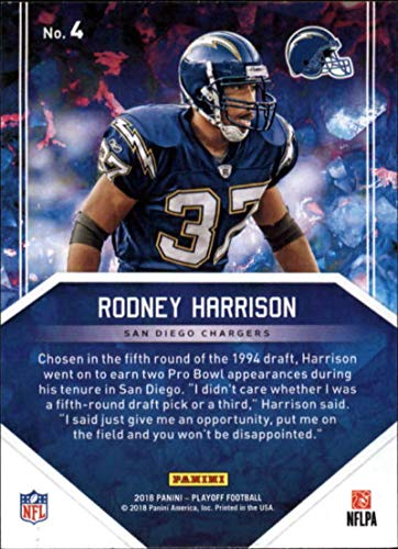 finest selection b61fc 443ca Amazon.com: 2018 Playoff NFL Hidden Gems #4 Rodney Harrison ...