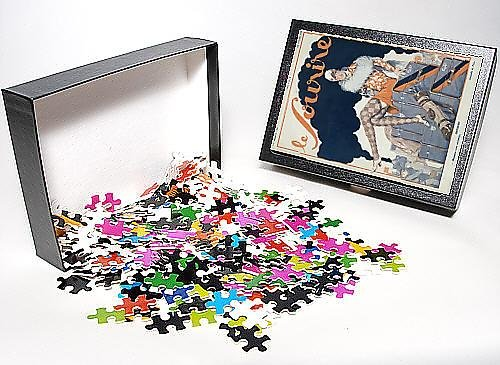 Photo Jigsaw Puzzle Of Lady Sits On Luggage