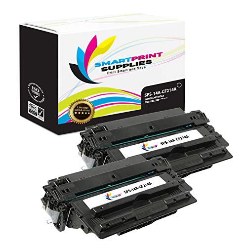 Smart Print Supplies Compatible 14A CF214A Black Toner Cartridge Replacement for HP Laserjet Enterprise 700 M712 M725 Printers (10,000 Pages) - 2 Pack