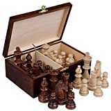 marble chess pieces Staunton No. 6 Tournament Chess Pieces in Wooden Box, 3.9-Inch King