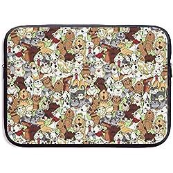 Love is A Four Legged Word Dogs Cats - Funda para MacBook Air 11 13 15 Pro 13.3 15.4 (Resistente al Agua), diseño de Gatos y Perros, Color Negro, Negro, 15 Pulgadas