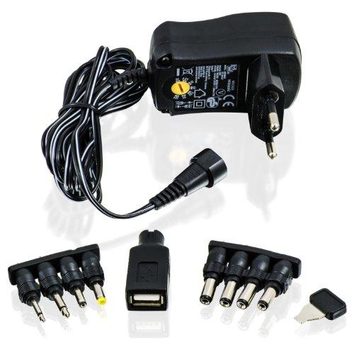 CSL - Universal Netzteil 3 / 4,5 / 5 / 6 / 7,5 / 9 und 12V AC/DC 1000mA, 9 Stecker | Reiseadapter