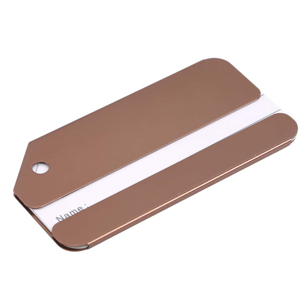 MOONQING Gep/äckanh/änger aus Metall Namens-ID-Kartenhalter f/ür Reisegep/äck-Gep/äckidentifikation