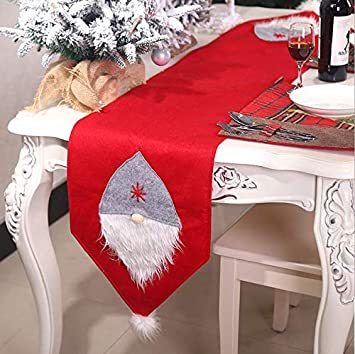 Chris W Christmas Table Runners Santa Elf Winter Table Runner Swedish Gnomes Holiday Table Decorations Party Decor Supplies 14 X 70 Inch