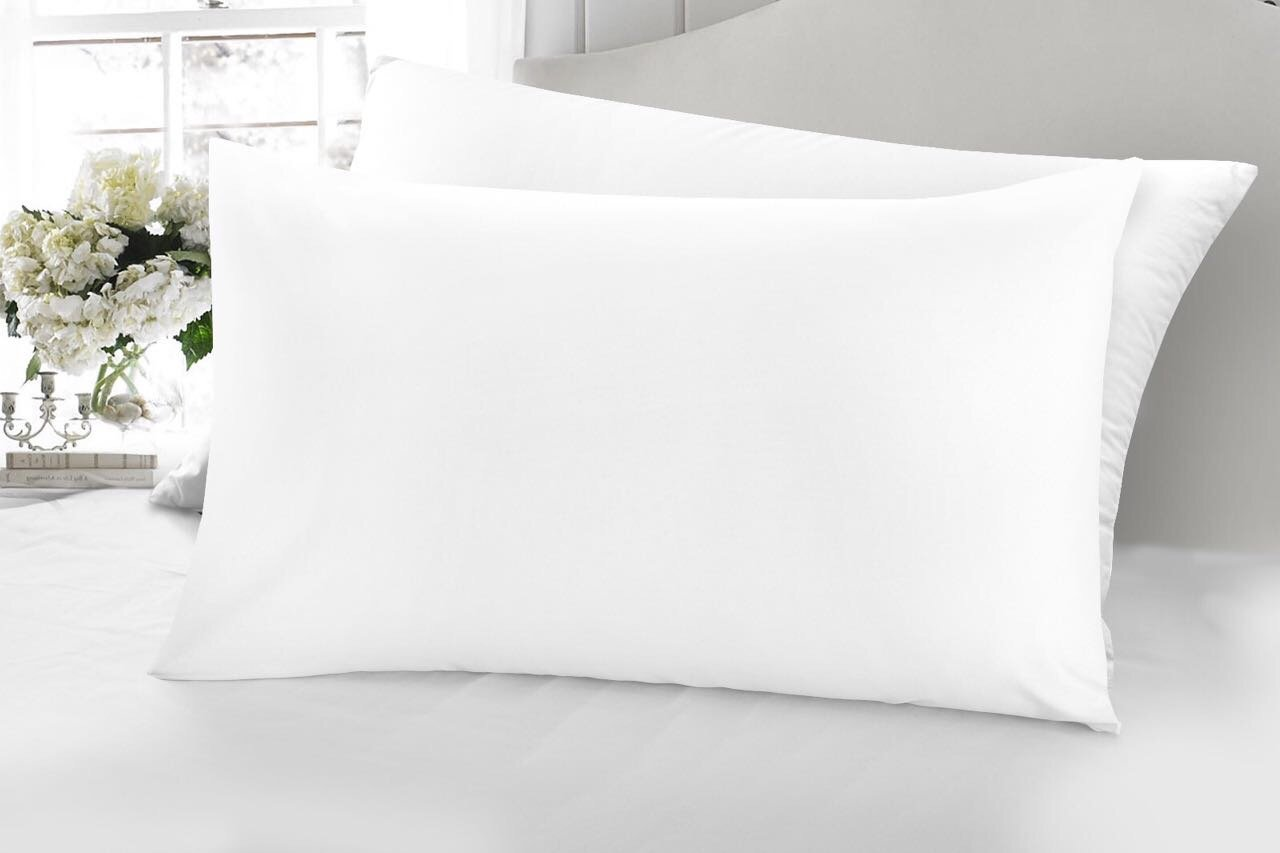 HOTEL EGYPTIAN COTTON SILVER GREY 400 THREAD COUNT HOUSE WIFE PILLOW CASE PAIR
