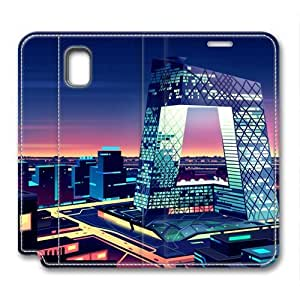 Beatiful City Architectural Leather Cover for Samsung Galaxy Note 3 by Cases & Mousepads