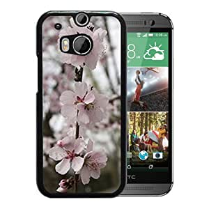 Unique DIY Designed Cover Case For HTC ONE M8 With Pink Blossoms Flower Mobile Wallpaper 3 Phone Case