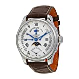 Longines Master Collection Automatic Multi Function Silver Dial Brown Leather Mens Watch L27394713