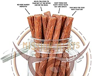 product image for Mission Meats SPICY Keto Sugar Free Jalapeno Pepper Free Range Turkey Jerky Sticks Gluten Free, No MSG Nitrate Free Paleo Snacks Healthy Natural Meat Sticks Jalapeno Turkey 144 pack