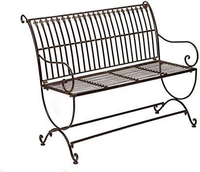 Estilo Antiguo Muebles de jardín Nostalgia Banco de jardín de Metal Muy: Amazon.es: Jardín
