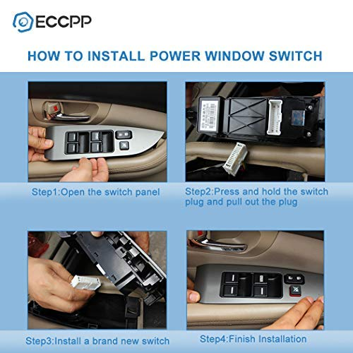 ECCPP ECCPP Power Window Switch Door Lock Switch Front Driver/â/€s Side Fits for 2008-2010 Dodge Grand Caravan 2009-2014 Dodge Journey 2011-2013 Jeep Grand Cherokee 2008-2009 Jeep Liberty OE 68039999AA