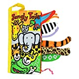 Soft Baby Animal Tails Cloth Book (5 Pages) -Infant/Toddler Tails Cloth Books Toy ,Animal Cloth Book Baby Toy Cloth Development Books (jungle tail)