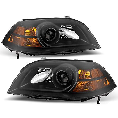 ACANII - For 2004-2006 Acura MDX Black Headlights Headlamps Front Head Lights Lamps Replacement Driver + Passenger Side