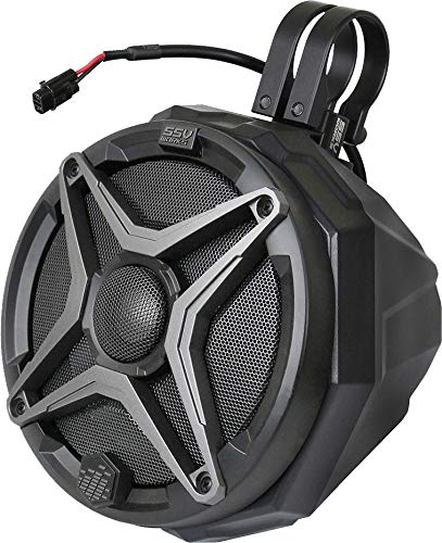 SSV Works US2-C65/175A Universal Cage Mount Pods Pair with 1.75' Clamps Loaded 6.5' Speakers