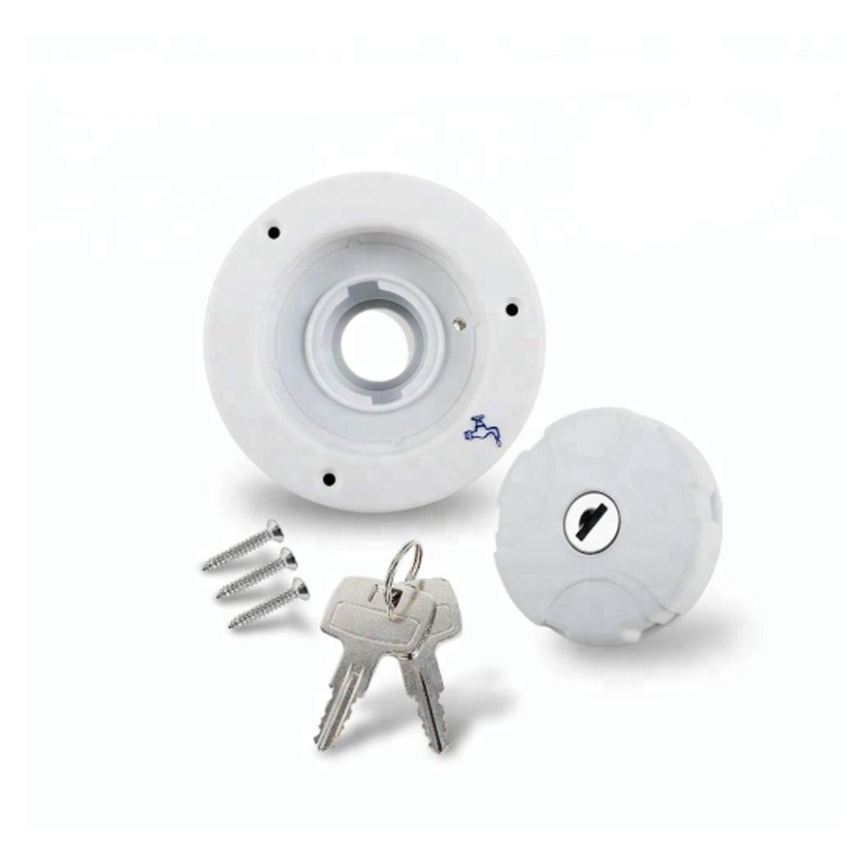 Door Hardware & Locks Caravan Water System Filler with 2 Key Cap Boat Accessories Socket Yacht Caravans Water System Filler,eliability and corrosion resistance (Color : 3920-W)