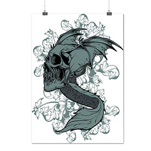 Head Fly Scary Cool Skull Dead Danger Matte/Glossy Poster A3 (42cm x 30cm)   Wellcoda