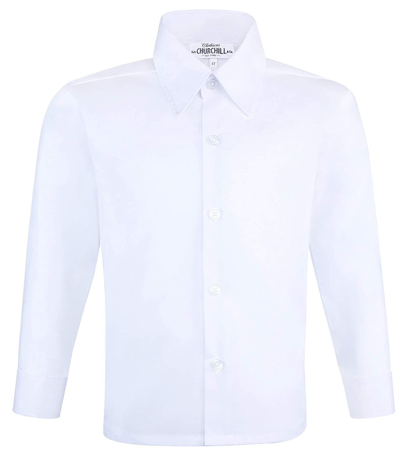 S.H. Churchill Co. Boy's White Dress Shirt