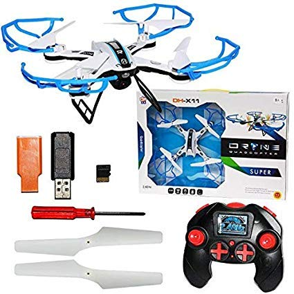 Toyfinity Phantom Style King Flip & Rotation Drone 6 Axis Gyro Headless Camera WiFi Mode - Blue for Kids Brain Enhancement and Entertainment