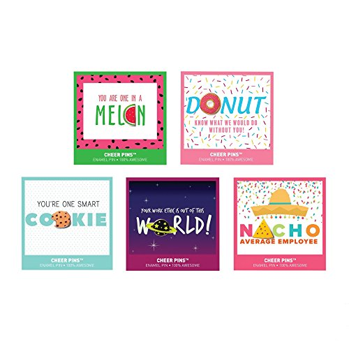 (Lapel Pin Bundle- Cute and Punny Pins with Coordinating Card - Employee Appreciation and Recognition Gifts - 5)