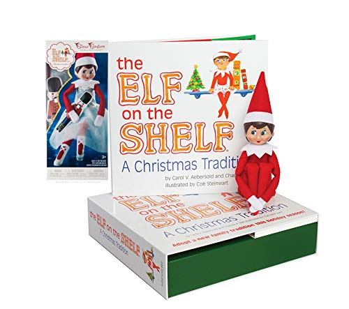 The Elf on the Shelf: A Christmas Tradition Girl Scout Elf (Blue Eyed) with Claus Couture Collection Snowy Sugar Plum Duo Outfit