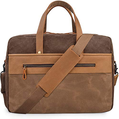 13 Inch Canvas Laptop Notebook Computer Bag Briefcase bag With Shoulder Strap