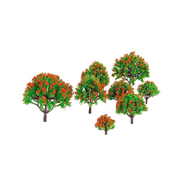 SM SunniMix 10pcs Miniature Trees Model Ground Cover Plants