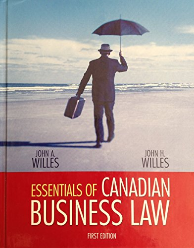 Essentials of Canadian Business Law