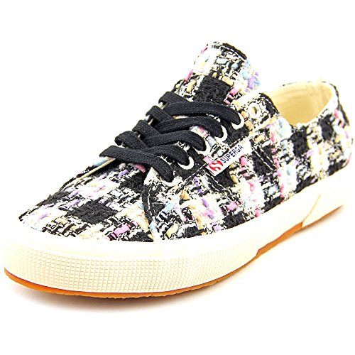 Superga Women's 2750 Bouclemultichecksw Fashion Sneaker, Pink/Multi, 41.5 EU/9.5 M US