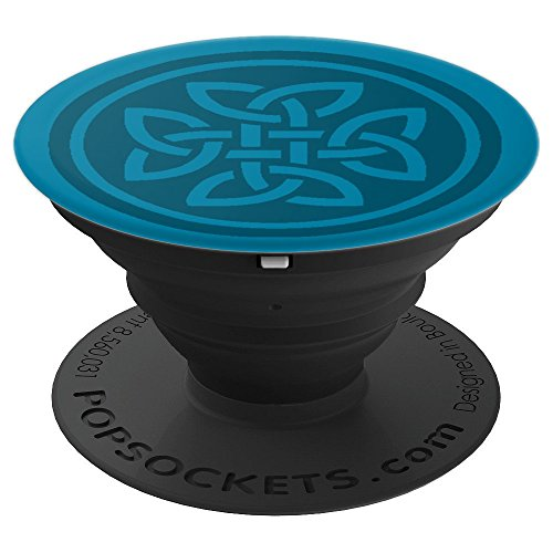 Irish Celtic Knot - 2 Tone Teal - PopSockets Grip and Stand for Phones and Tablets