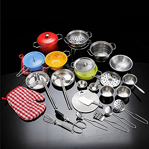 Buy Belupai Kids Pretend Kitchen Cooking Toys 33 Pieces Cookware