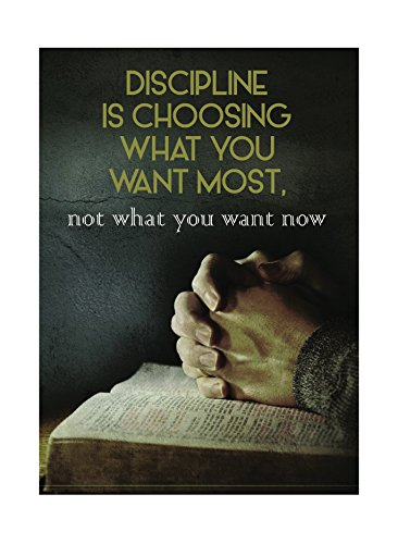 Discipline Is Choosing What You Want Most Now What You Want Now Print Hands Holding Reading Picture Inspirational Motivational Poster