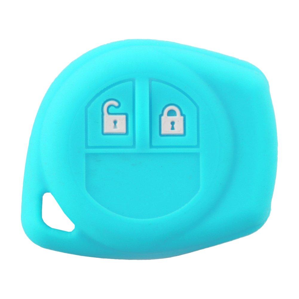 SpringPear® Bleu Protéger Housse pour Voiture Suzuki Jimny 2 Boutons Clé Coque en Silicone de Protection